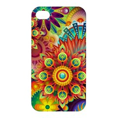 Colorful Abstract Background Colorful Apple Iphone 4/4s Premium Hardshell Case
