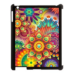 Colorful Abstract Background Colorful Apple Ipad 3/4 Case (black)