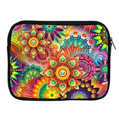 Colorful Abstract Background Colorful Apple Ipad 2/3/4 Zipper Cases