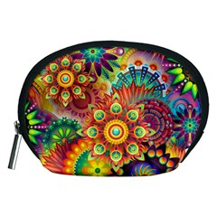 Colorful Abstract Background Colorful Accessory Pouches (medium)