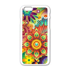 Colorful Abstract Background Colorful Apple Iphone 6/6s White Enamel Case