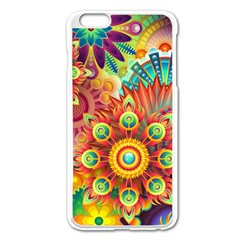Colorful Abstract Background Colorful Apple Iphone 6 Plus/6s Plus Enamel White Case