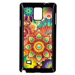 Colorful Abstract Background Colorful Samsung Galaxy Note 4 Case (black)