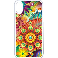 Colorful Abstract Background Colorful Apple Iphone X Seamless Case (white)