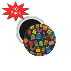 Presents Gifts Background Colorful 1 75  Magnets (10 Pack)