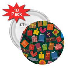 Presents Gifts Background Colorful 2 25  Buttons (10 Pack)