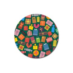 Presents Gifts Background Colorful Magnet 3  (round)