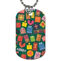 Presents Gifts Background Colorful Dog Tag (one Side)