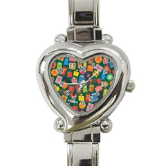 Presents Gifts Background Colorful Heart Italian Charm Watch