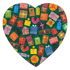 Presents Gifts Background Colorful Jigsaw Puzzle (heart)