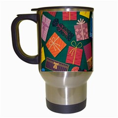 Presents Gifts Background Colorful Travel Mugs (white)