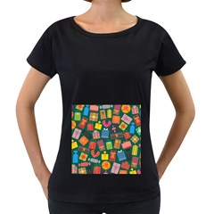 Presents Gifts Background Colorful Women s Loose Fit T Shirt (black)