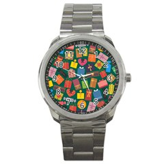 Presents Gifts Background Colorful Sport Metal Watch