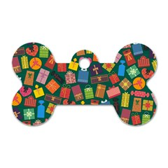 Presents Gifts Background Colorful Dog Tag Bone (two Sides)