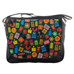 Presents Gifts Background Colorful Messenger Bags
