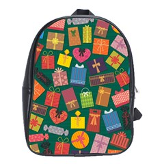 Presents Gifts Background Colorful School Bag (xl)