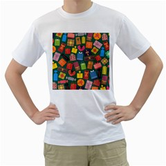 Presents Gifts Background Colorful Men s T Shirt (white)