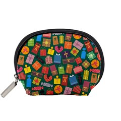 Presents Gifts Background Colorful Accessory Pouches (small)