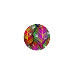 Abstract Background Colorful Leaves 1  Mini Buttons