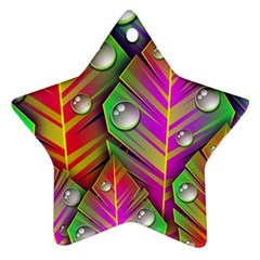 Abstract Background Colorful Leaves Star Ornament (two Sides)