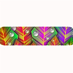 Abstract Background Colorful Leaves Large Bar Mats