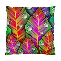 Abstract Background Colorful Leaves Standard Cushion Case (two Sides)