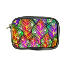 Abstract Background Colorful Leaves Coin Purse