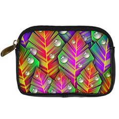 Abstract Background Colorful Leaves Digital Camera Cases