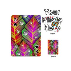 Abstract Background Colorful Leaves Playing Cards 54 (mini)