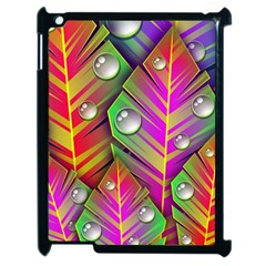 Abstract Background Colorful Leaves Apple Ipad 2 Case (black)