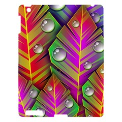 Abstract Background Colorful Leaves Apple Ipad 3/4 Hardshell Case