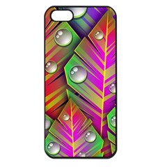 Abstract Background Colorful Leaves Apple Iphone 5 Seamless Case (black)