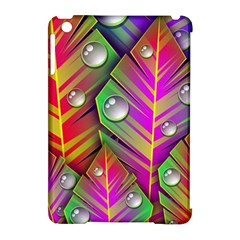 Abstract Background Colorful Leaves Apple Ipad Mini Hardshell Case (compatible With Smart Cover)
