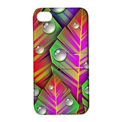 Abstract Background Colorful Leaves Apple Iphone 4/4s Hardshell Case With Stand