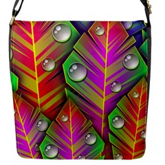 Abstract Background Colorful Leaves Flap Messenger Bag (s)