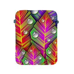 Abstract Background Colorful Leaves Apple Ipad 2/3/4 Protective Soft Cases