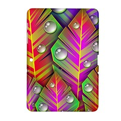 Abstract Background Colorful Leaves Samsung Galaxy Tab 2 (10 1 ) P5100 Hardshell Case