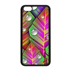 Abstract Background Colorful Leaves Apple Iphone 5c Seamless Case (black)