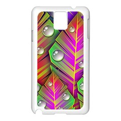 Abstract Background Colorful Leaves Samsung Galaxy Note 3 N9005 Case (white)
