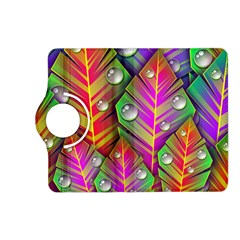 Abstract Background Colorful Leaves Kindle Fire Hd (2013) Flip 360 Case