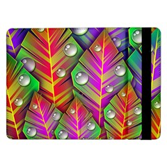 Abstract Background Colorful Leaves Samsung Galaxy Tab Pro 12 2  Flip Case