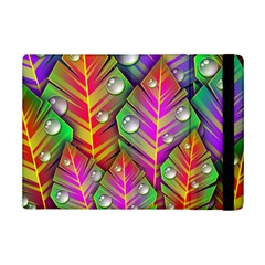 Abstract Background Colorful Leaves Ipad Mini 2 Flip Cases