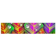Abstract Background Colorful Leaves Small Flano Scarf