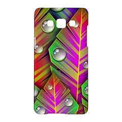 Abstract Background Colorful Leaves Samsung Galaxy A5 Hardshell Case