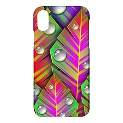 Abstract Background Colorful Leaves Apple Iphone X Hardshell Case