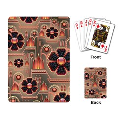 Background Floral Flower Stylised Playing Card