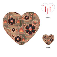 Background Floral Flower Stylised Playing Cards (heart)