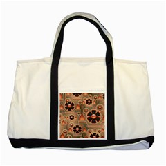 Background Floral Flower Stylised Two Tone Tote Bag