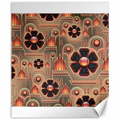 Background Floral Flower Stylised Canvas 8  X 10