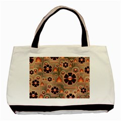 Background Floral Flower Stylised Basic Tote Bag (two Sides)